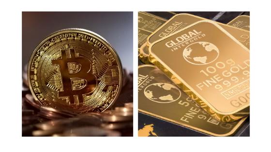 Bitcoin v Oro